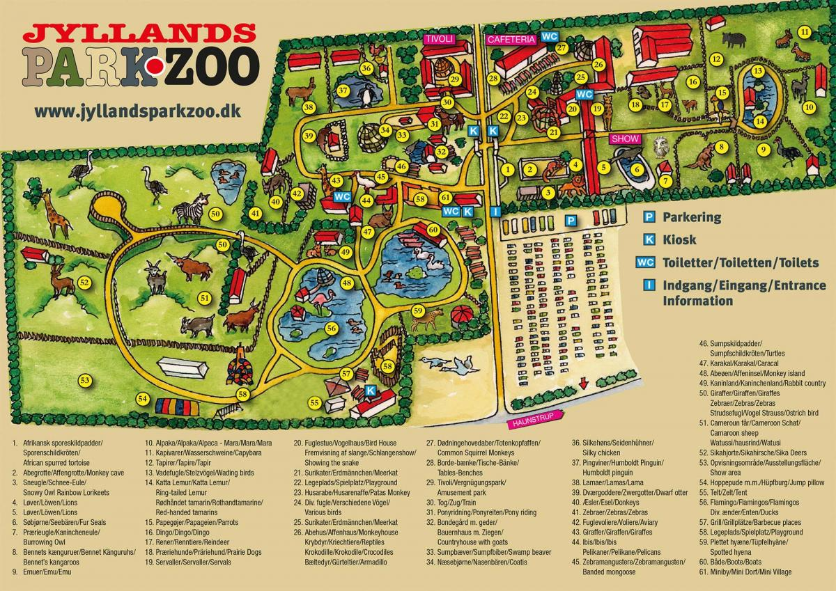 Jyllands Park Zoo - Karte 2020